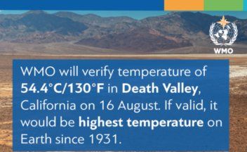 WMO will verify temperature of 54.4°C in USA